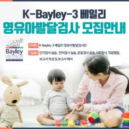 K-Bayley-3 베일리 영유아발달검사 워크샵